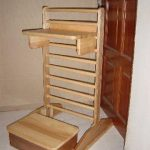 Mobile Ladder with Tray And Stool 1